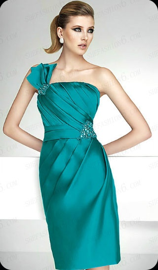 http://www.shefashion6.com  Item 2012SP0020   2012 One Shoulder Knee Length Satin Party Dress; Real top fabric, competitive price!!!