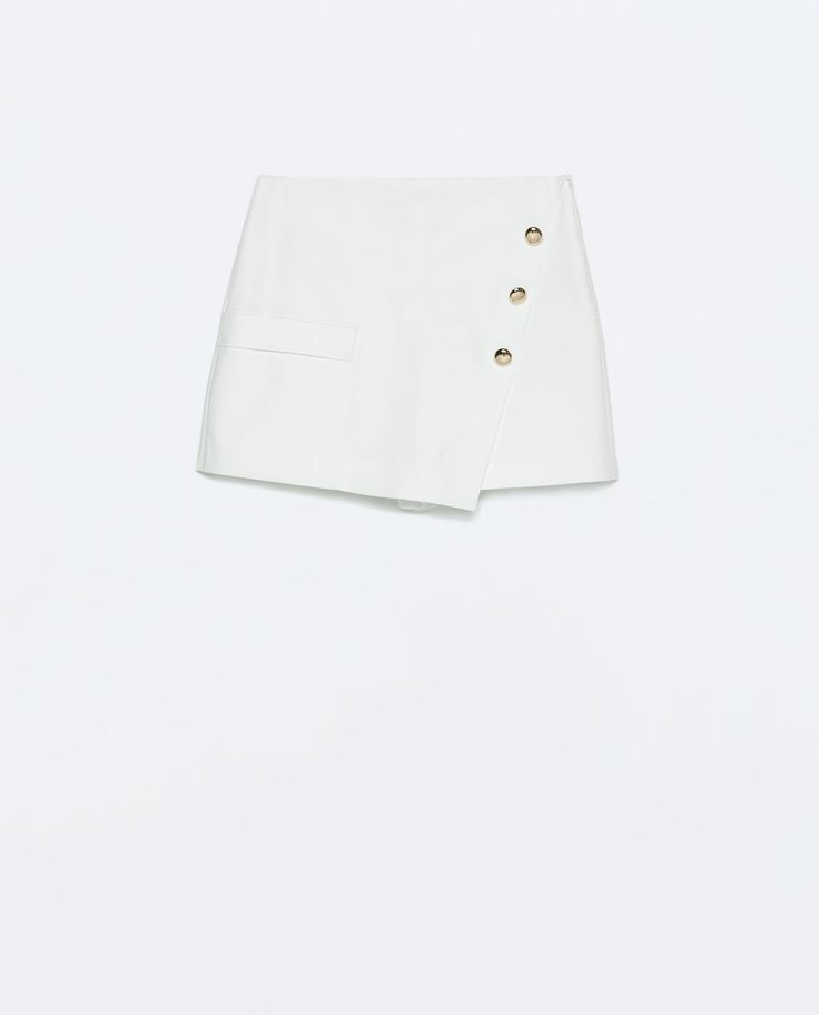 Image 6 of GOLD BUTTON WRAP SKIRT from Zara