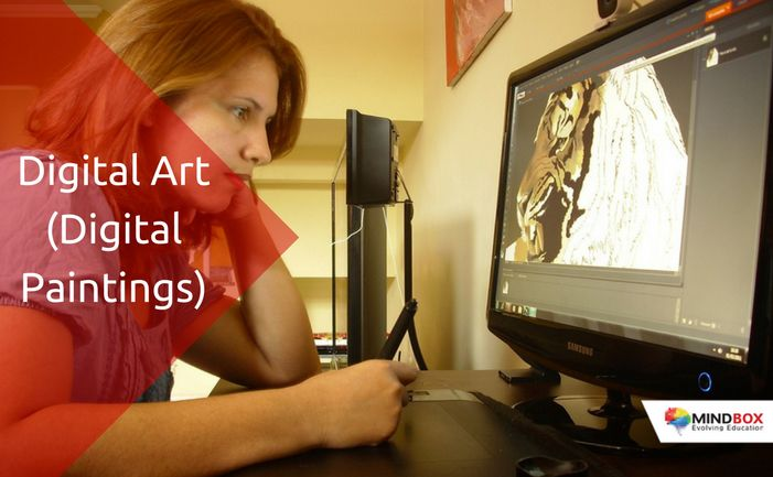 #AtMindbox #DigitalArt(Digital Painting) program combines the power of software & hardware technology with Traditional art skills in training students on creating digital paintings. A fun activity based program, introduces students to handling of digital tools of art creation at an early stage of education.
