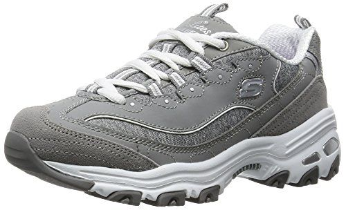 Skechers Sport Women's D'lites Me Time Fashion Sneaker, Grey, 7 M US - http://all-shoes-online.com/skechers-3/7-b-m-us-skechers-sport-womens-dlites-memory-foam-up-18