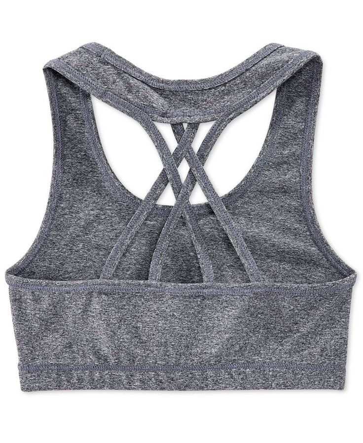 She'll be ready for action in this comfortable and stylish sports bra from Ideology--perfect for her active wear rotation! | Polyester/spandex | Machine washable | Imported | Pullover style | Graphic
