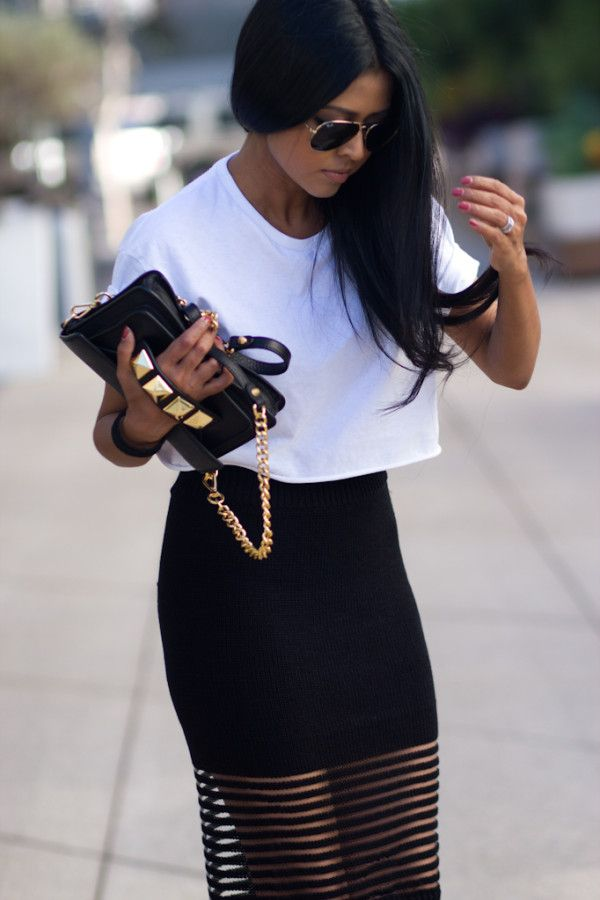 style. black and white. chic. maxi