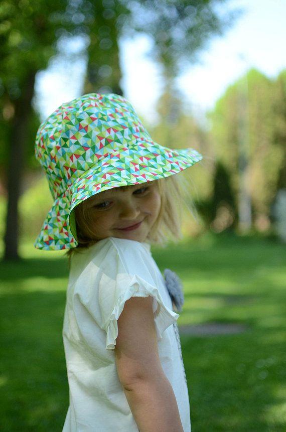 Girls Summer Hat With Brim Kids Summer Hat Toddler Girl Sun f2769db735a