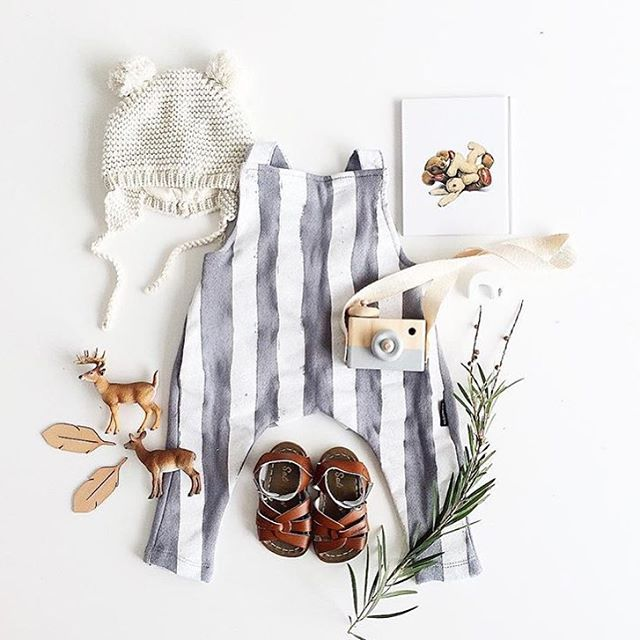 Fin & Vince Romper Salt water sandals Toy camera - @behindthetrees_ styling - @misskyreeloves