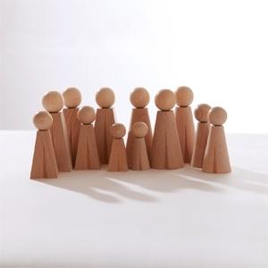 die kleinen Holzfiguren für die Aufstellungsarbeit sind immer dabei - wenn nicht, gibt es immer noch die Papierlösung