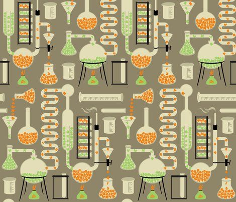 Chemistry Alphabet fabric by melisza for sale on Spoonflower - custom fabric, wallpaper and wall ...