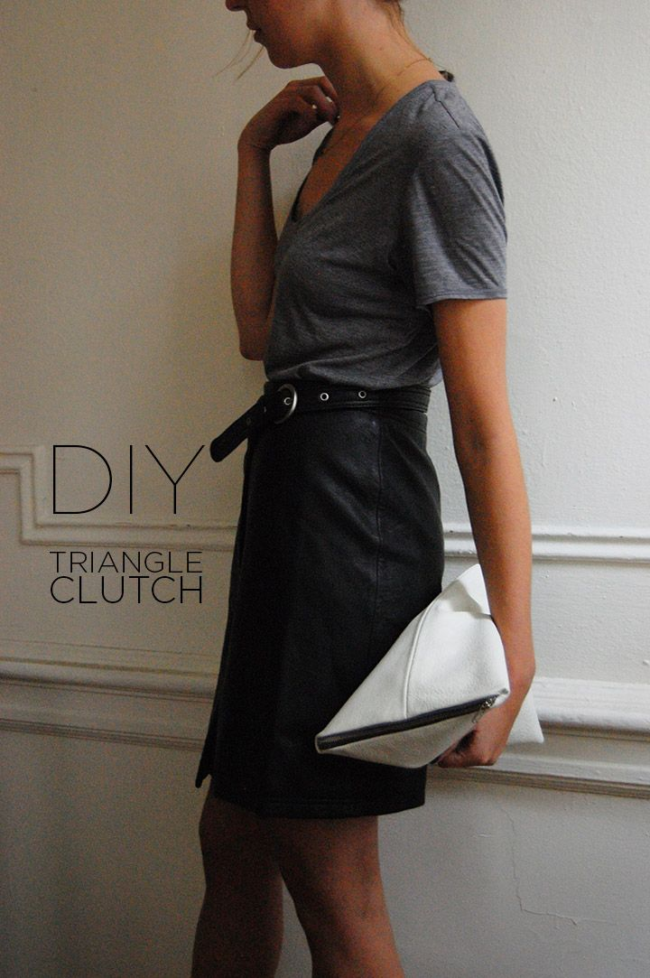 DIY: Triangle Clutch (DeSmitten Design Blog) | Triangles, Clutches ...