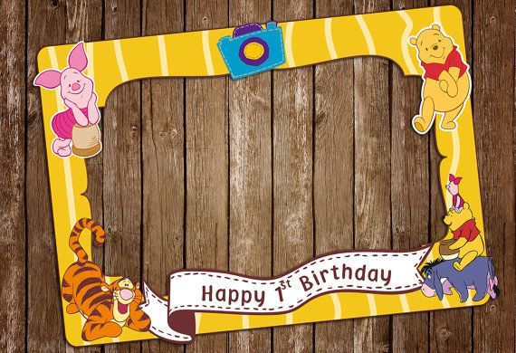 winnie the pooh photo booth prop  Customize photo by IRMdesgn