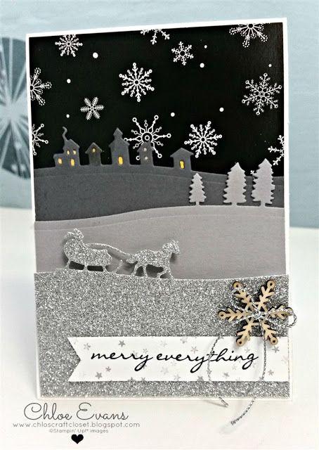 Sleigh Ride Edgelits, Stampin Up, Jingle all the way, Christmas card