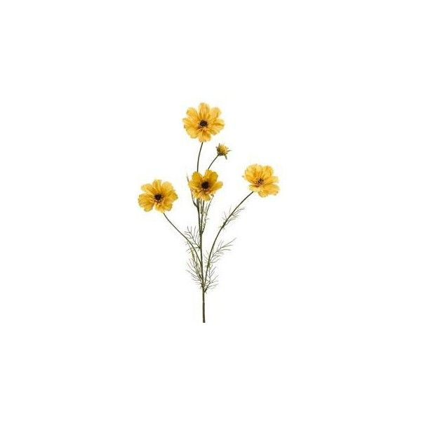 Cosmos Spray in Yellow | Silk Cosmos | Silk Flowers (€1,95) ❤ liked on Polyvore featuring home, home decor, floral decor, fillers, flowers, plants, nature, decor, backgrounds and embellishment