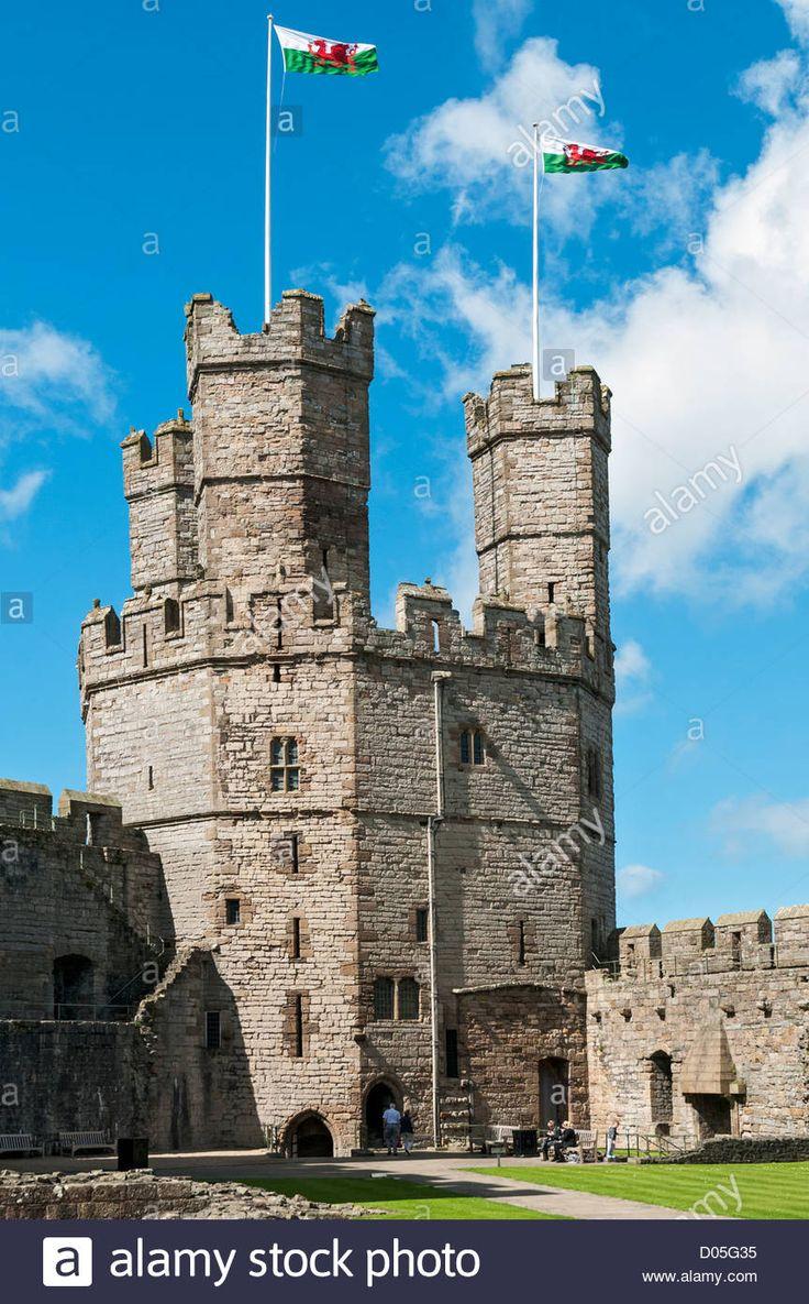 Caernafon Castle, County Gwynedd, Wales