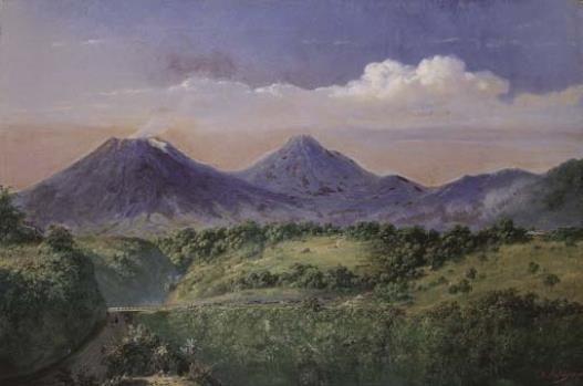 Raden Saleh - Gunung Merbabu & Merapi