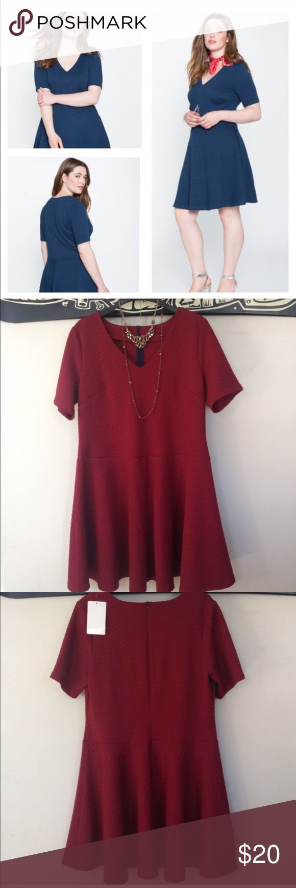 Maroon Skater Dress Brand new never worn! This is a reposh! Eloquii Dresses