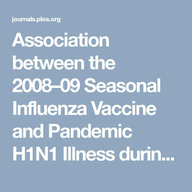 Association between the 2008–09 Seasonal Influenza Vaccine and Pandemic H1N1 Illness during Spring–Summer 2009: Four Observational Studies from Canada
