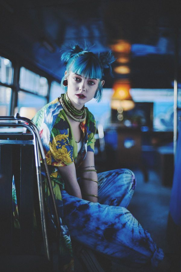 Polychromatic Punk Editorials - Alex Hutchinson Captures This Exotic Grunge-Inspired Series (GALLERY):