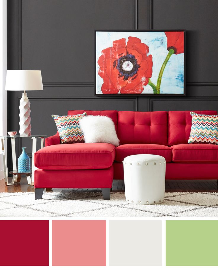 Cindy Crawford Home Madison Place Cardinal 2 Pc Sectional