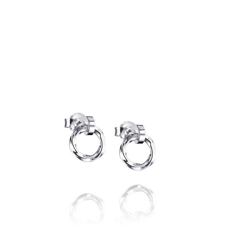 VIKING EAR.  Plain earrings in 925 sterling silver.