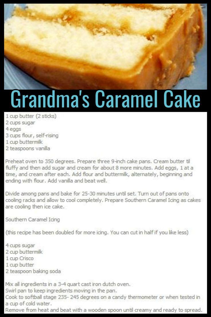 Grandmas Desserts: Homemade Potluck and Family Reunion Dessert Ideas That Will Even Please Your Church Crowd | Cake recipes, Homemade cake recipes, Caramel cake recipe homemade