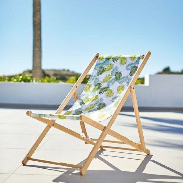 Inspirations Balcon Terrasse Jardin Chilienne En Bois Imprime Feuilles Collection Jardin Gifi Outdoor Chairs Outdoor Furniture Inspiration