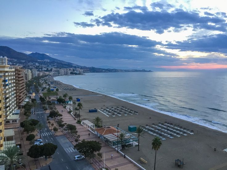 Beautiful view over Fuengirola Beach