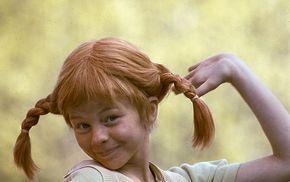 Inger Nilsson som Pippi Långstrump 1969.