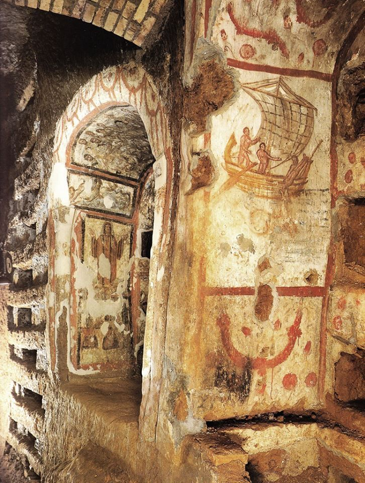 The Catacombs of Rome are ancient, underground burial places under Rome, Italy,