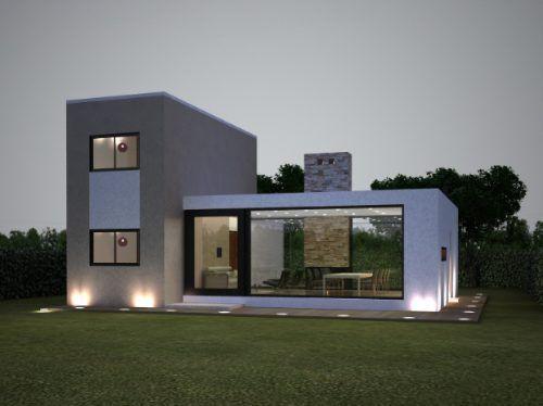 17 mejores ideas sobre casas minimalistas peque as en for Frentes de casas minimalistas