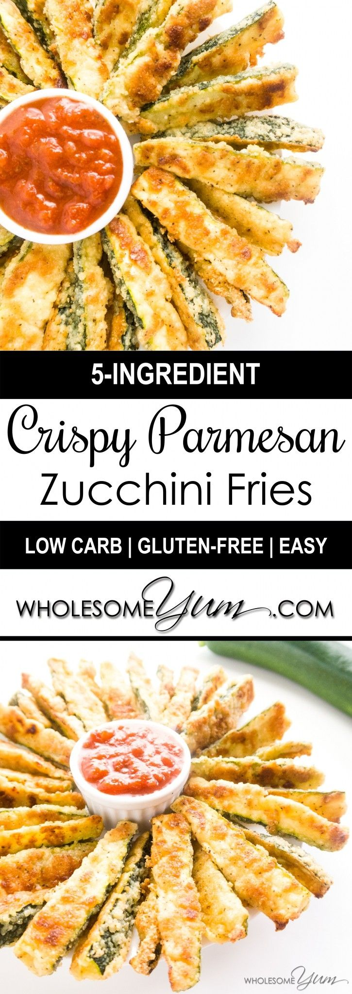 Crispy Parmesan Zucchini Fries (Low Carb, Gluten-free)