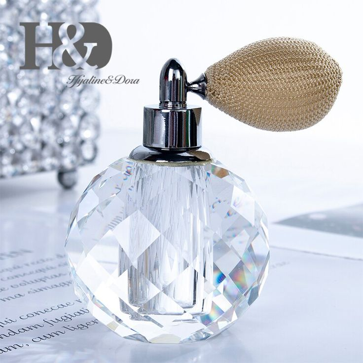 10ml Clear Crystal Perfume Bottle With Short Spray Atomizer Great Gift Refillable Faceted Bottle For Home Refillable Perfume Bottle Perfume Refillable Perfume