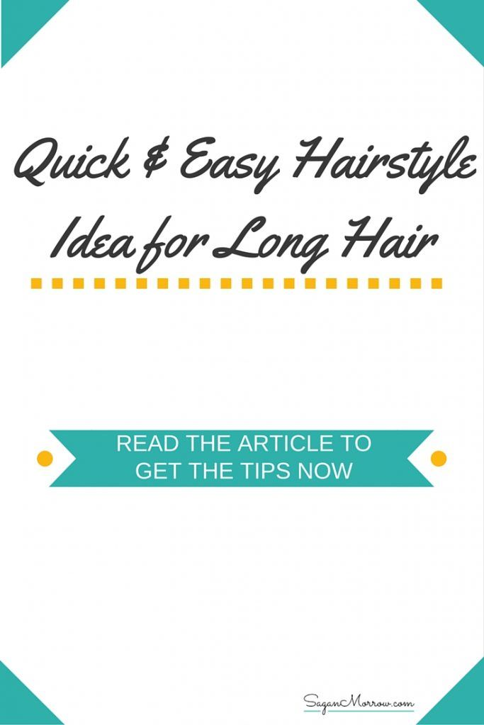Get a quick & easy hairstyle idea for long hair in this article! This hairdo is fairly straightforward and it's a great way to manage your hair when it's too heavy to do much with it -- but you don't want it getting in your face. Click on over to get the hairstyle tips now.
