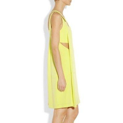Alexander Wang Racer-back citrine silk-crepe dress (Clothia.com)