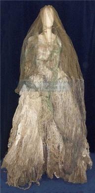 Miss Havisham's wedding gown.