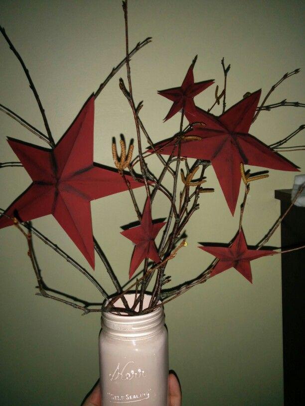 Rustic cardboard stars : )