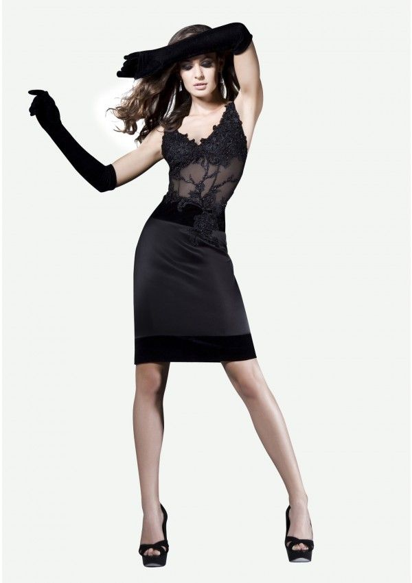 Daring Me is a sensuous, provocative cocktail dress. Wear it and your look will be perfect for a season filled with romance and mistery