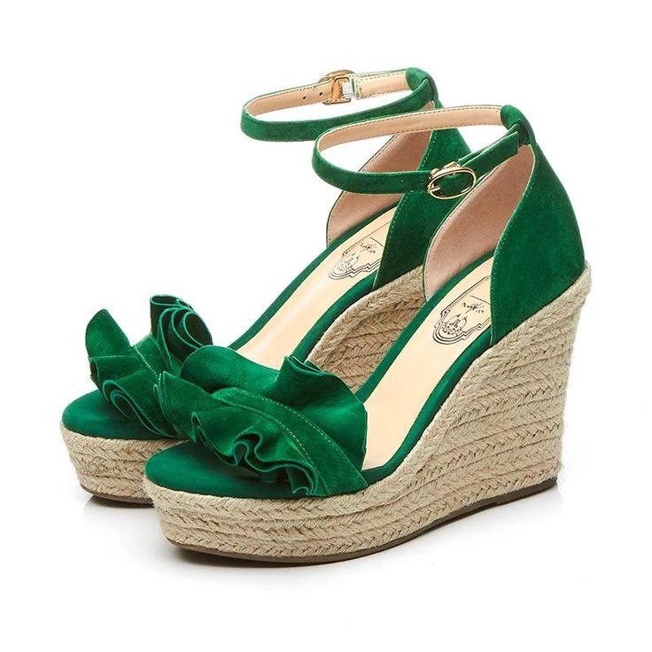 Krazing Горшок 2017 женской обуви peep toe малыш замши клинья высокие каблуки сандалии женщин суперзвезда дамы офис лето взлетно посадочной полосы сексуальная обувь 65 купить на AliExpress