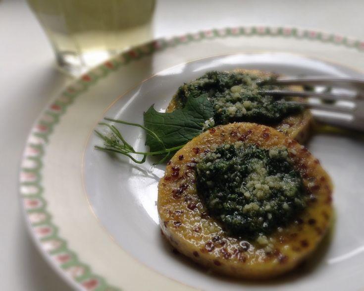 "Garlic mustard (Alliaria petiolata) pesto recipe from ""The Forager's Feast: How to Identify, Gather, and Prepare Wild Edibles"""