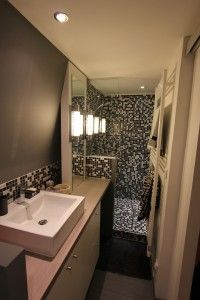 salle de bain en longueur 1m20 de large salle de bain pinterest. Black Bedroom Furniture Sets. Home Design Ideas