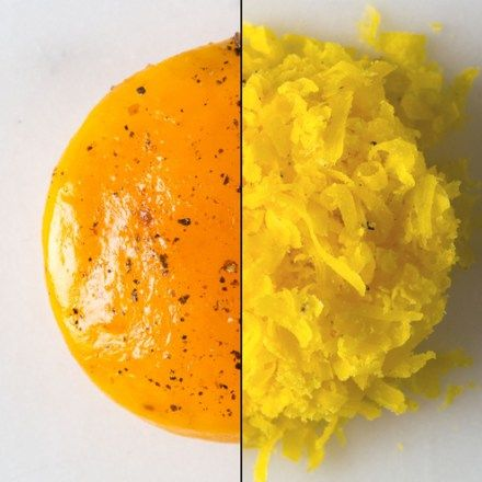 Bonito and Black Pepper–Cured Egg Yolks - Cook's Science