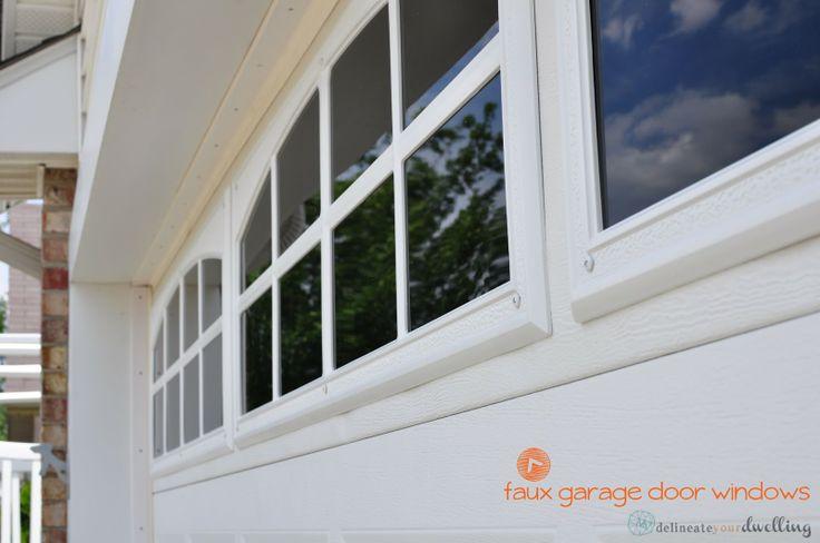 Faux Garage Door Windows Paint Them On Then Glue Molding