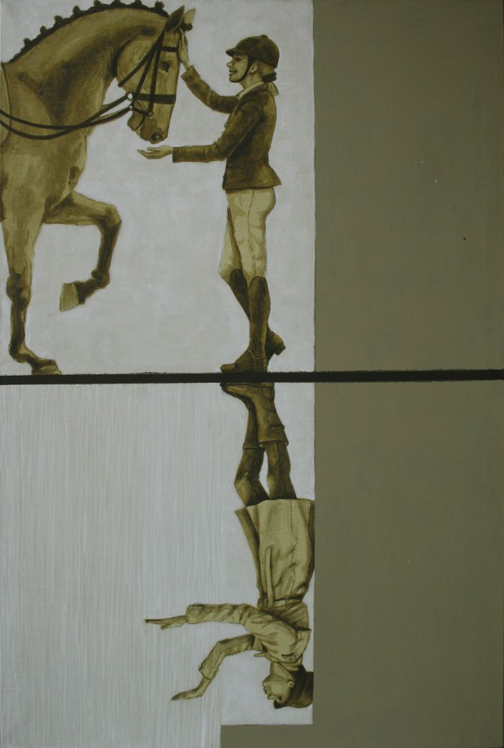 Vania Elettra Tam - a caval donato... sempre sul bagnato - 2015 - 60x40 cm - acrilico su tela