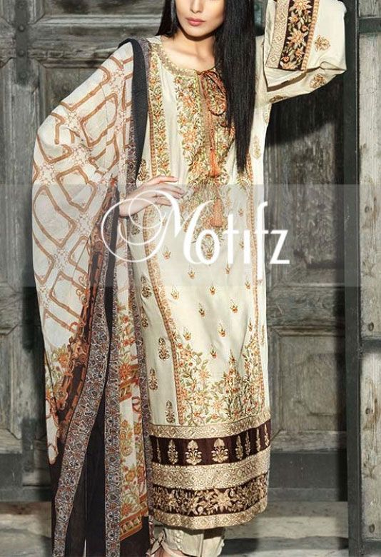 Buy Cream Embroidered Linen Salwar Kameez by Motifz Pakistan 2015 Call: (702) 751-3523 Whatsapp us at : 0092-3218864791 Viberapp us at : 0092-3218864791 Email: Info@PakRobe.com www.pakrobe.com https://www.pakrobe.com/Women/Clothing/Buy-Winter-Salwar-Kameez-Online #WINTER #SALWAR #KAMEEZ