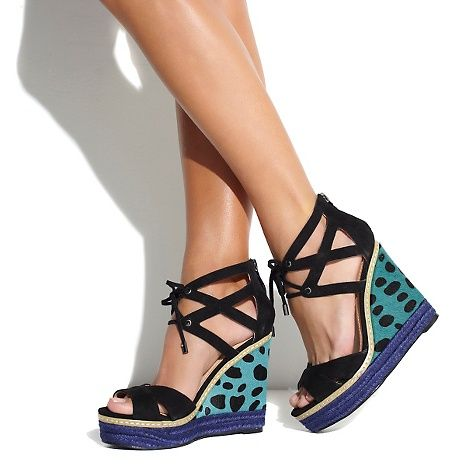 "June Ambrose for Theme Josephine ""Teal"" Wedge (Photo Credit: hsn.com)"