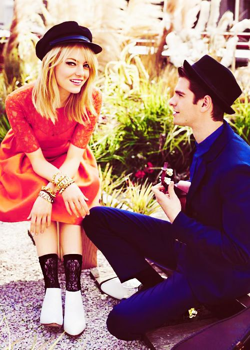 Emma Stone and Andrew Garfield. Adorbs.