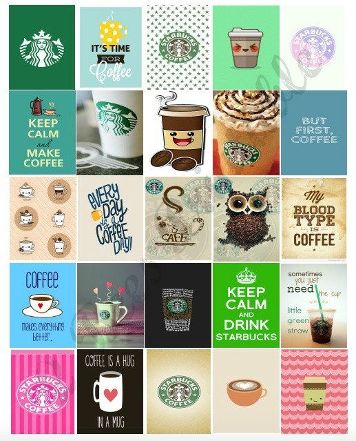 Printable Starbucks and Coffee box stickers for Life Planners. These cute stickers are made to fit the weekly boxes of the Erin Condren life