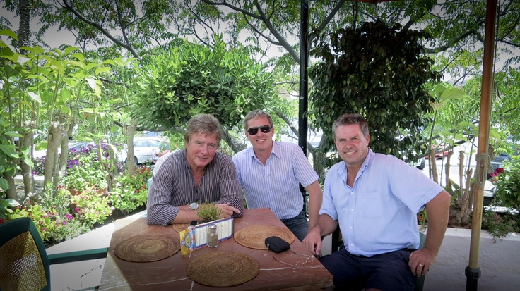 Great people I have met through work. And the bonus of course is we get to do some business together. John with business partner Andy Guppy and Charles Mackenzie-Hill
