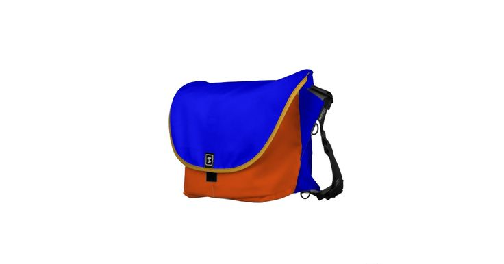 Blue and Orange Rickshaw Bags Pick Your Size!