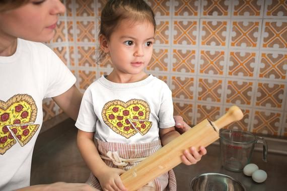 Kids Shirt, Pizza Shirt, Heart Pepperoni Pizza T Shirt, Funny Tshirt, Tee For Pizza Lover, Youth & T