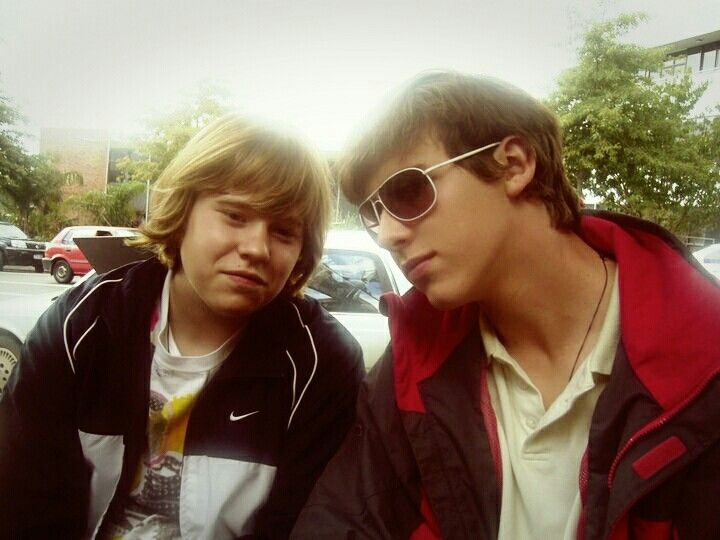Old photo of my brother and I in New Zealand. #throwback #backintheday #hello #teens #myblood
