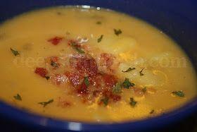 Deep South Dish: Creamy Cheesy Potato Soup with Bacon