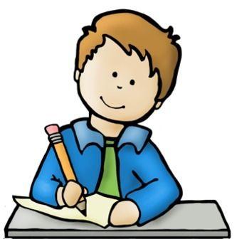 Big Kids Writing and Technology Clip Art | Kids writing ...